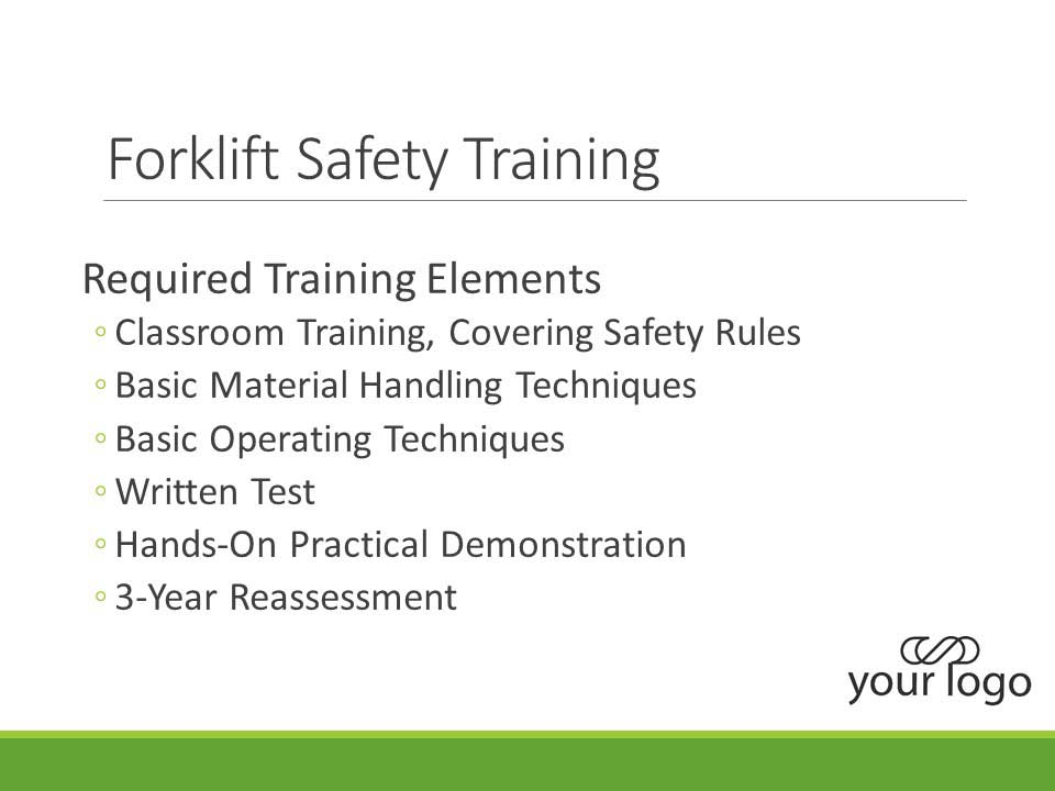 Example custom environmental and safety training slide
