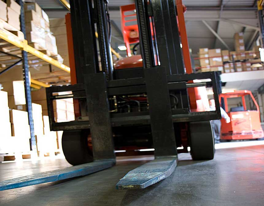 Photo of a forklift used in forklift safety training