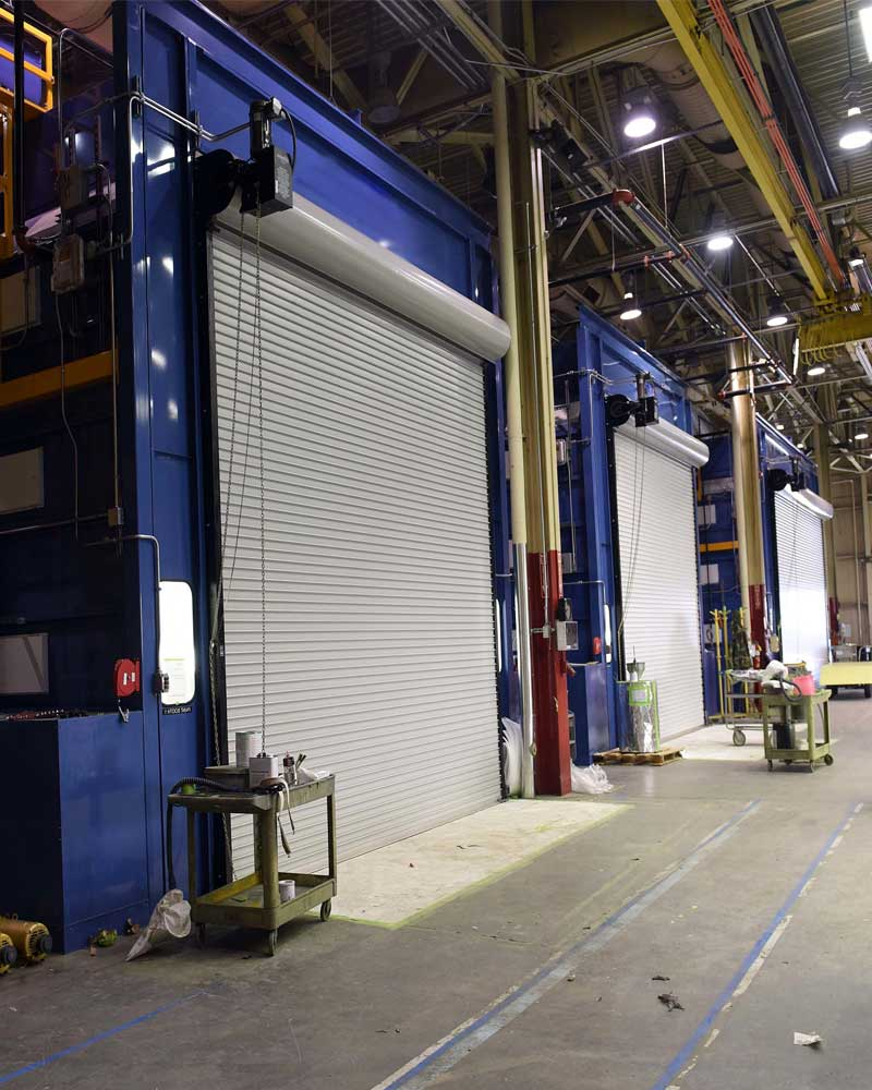 A photo of a paint booth that iSi would provide cleaning and filter changeouts for.