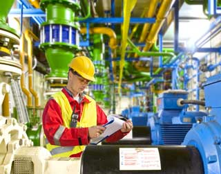 A photo of a safety consultant conducting a safety audit.