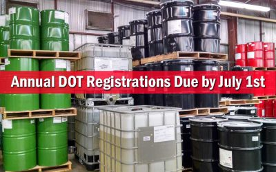 Annual DOT Registrations Due July 1