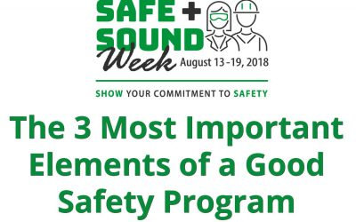 The 3 Most Important Elements of a Good Safety Program